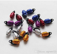 20pieces / lot Aluminium Grenade Design Car Moto Bike Tire Tire Valve Dust Caps 5 Couleurs top sale Livraison gratuite
