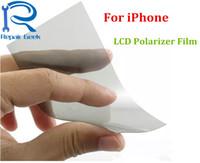 iphone original 4s lcd venda por atacado-Original novo material de luz polarizada para iphone 4 4s 5 5s 5c 6 6 s 7 8 além disso polarizador polarizador polarização polaroid substituição