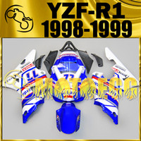 Wholesale R1 Yzf 99 Fairing - Motoegg Aftermarket Injection Mold Fairing For Yamaha YZFR1 YZF-R1 YZF R1 1998 1999 98 99 Blue White Y18M31+5 Free Gifts