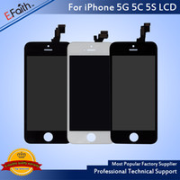 Wholesale Apple Display Parts - Grade A+++ Black & White LCD Display Touch Screen Digitizer Full Assembly For iPhone 5S 5C Replacement Repair Parts & Free Shipping