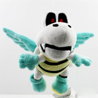 Wholesale Super Mario Bros Stuffed Animals - Free Shipping 2014 Cute Super Mario Bros. 18cm Plush Flying Winged Dry Bones Soft Toy Stuffed Animal Retail