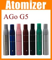 Wholesale G5 Atomizers - For Cut tobacco solid Liquid Herb Atomizer Clearomizer AGo G5 metal portable dry herb Atomizer for Ecig e-cig ecigator vaporizer pen ATB001