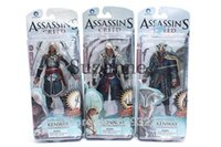 Wholesale Assassins Creed Figures - 2016 New 3Pcs Action figure Assassins Creed Assassins's game doll Edward Canvey Cosplay New in Orginal Box Free Shipping