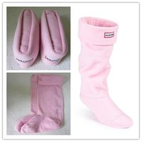 Wholesale Quality Wellington Boots - 2017 WHOLESALE ADULTS PINK HUNTER BOOT SOCK THERMAL LONG ORIGINAL FLEECE WELLINGTON HUNTER BOOTS SOCKS SALE HIGH QUALITY TALL BOOT SOCK