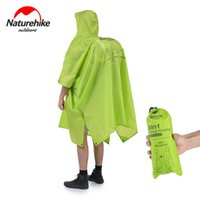 Wholesale outdoor backpack raincoat - Wholesale- Naturehike Single Person Poncho Raincoat Backpack Cover Outdoor Awning Camping Mini Tarp Sun Shelter 20D Silicone 210T Taffeta