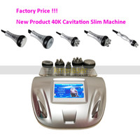 Wholesale cavitation screen - 40K Cavitation 5MHZ Radio Frequency skin lift touch screen 5 heads slim Machine