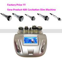 Wholesale Cavitation Screen - 40K Cavitation 5MHZ Radio Frequency skin lift touch screen 5 heads slim Machine