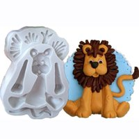 Wholesale rabbit lion - 3D Lion Giraffe Rabbit Elephant Animal Shape Silicone Form Fondant Cake Molds Biscuit Cookie Soap Sugarcraft Decoration Tools