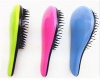 Wholesale Hair Styling Brush Comb - One piece low price Hair Brush Combs Magic Detangling Handle Tangle Shower Salon Styling Tamer Tool Professional hairbrush