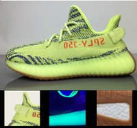 Wholesale Green Bottoms - Real Boost 2017 350 v2 Final Version Yebra Semi Frozen with Gum B37572 Blue Tint B37571 Violet B37573 With basf Real Bottom