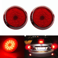 DC 12V Automobiles LED Light Per Toyota Scion xB iQ Red Lens Paraurti Riflettore 12V 21 SMD 1210 LED Tail Stop Light Corolla