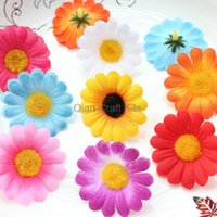 Wholesale Wholesale Gerbera Daisies For Hair - 200pcs Gerbera Daisy Heads Artificial Silk Flower 1.75 inches Wholesale Lot for Bridal Wedding work, Make Hair clips, hats