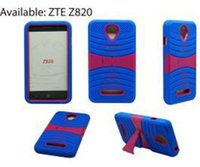 Wholesale Durable Plastic Clips - For ZTE Obsidian Z820 Hybrid Case Heavy Duty Durable TPU PC Robot Cases for ZTE Obsidian Z820 Cases