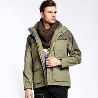 Wholesale Microfiber Yard - Men's Outdoor Two-piece Elongated Jacket Winter Wool Winter Big Yards Jacket Waterproof Insulation 2015 Men's Jackets