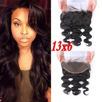 Wholesale Cambodian Baby Hair - Pre plucked Cambodian hair frontal 13x6 body wave human hair lace frontal closure with baby hair FDSHINE