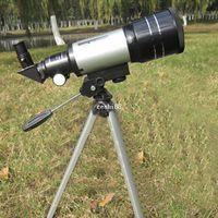 alcance de zoom al por mayor-Telescopio astronómico de espacio monocular al aire libre Zoom HD 150X de alta calidad con telescopio portátil trípode # HWF30070