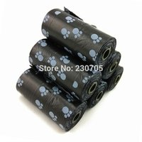 Wholesale Dog Pooper - Wholesale-200pcs=10 Rolls Biodegradable Pet Dog Waste bags Poop Pooper Scoopers for Bags on Board 20pc roll Wholesale Free Ship