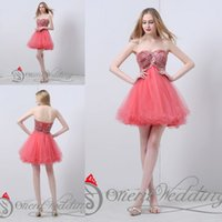Wholesale Elegant Sexy Sweetheart Mini Dress - Latest Elegant Best Sale Real Pictures Party Dresses Strapless Crystal Beaded A-line Mini Short Cocktail Party Homecoming Prom Dresses
