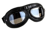 Wholesale Motorcycle Goggles Black - 2016 Cycling Eyewear new Scooter Goggle Glasses Aviator Pilot Ski Motorcycle Bike Goggle Clear Free shippping