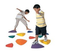 River Stepping Stones Walking Game - Taglie assortite - Set di 11 - Allenamento bilanciato di integrazione sensoriale di colori assortiti