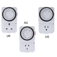 Wholesale 24 Hours Timer Switch - 24-Hour Programmable Mechanical Electrical Plug Program Timer Power Switch Energy Saver UK US AU Plug order<$18no track