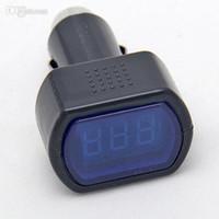 Wholesale Best Digital Panels - Wholesale-Electric Voltage Digital Panel Meter Volt Voltmeter Monitor LED Display Car Digital LCD Cigarette Lighter Socket Best Selling
