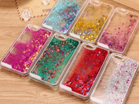 Wholesale S4 Liquid - Floating Glitter Star Running Quicksand Liquid PC Hard Case Shining Cover For iPhone 4 5 6 Plus Samsung Galaxy S4 S5 S6 Note3