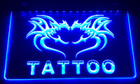 Wholesale tattoo neon signs resale online - LS013 b Tattoo Open Neon Light Sign