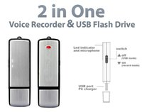 Wholesale Digital Memory Stick Recorder - 16GB New Updated 2 in1 Digital Voice Recorder II USB Flash Memory Stick Drive 14 hours