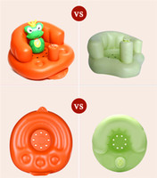 Wholesale Inflatable Kid Stool - Inflatable Children's Chair Baby Sofa Kids Chair Baby Sofa Inflatable Kids Children Toddlers Learn stool Chair Training Bath Seat