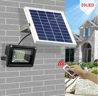 Wholesale Waterproof Led Lights For Pools - 10W 20 LEDs Outdoor Waterproof Dimmable Solar Flood Light Street Light for Garden Billboard Patio Swimming Pool Garage LLFA