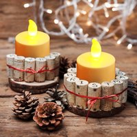 Wholesale Tea Light Battery Candles New - 50pcs  Lot Flicker Tea Candles Light New Led Flameless Tealight Battery Operated For Wedding Birthday Party Christmas Decor