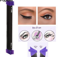 Hot Makeup Vamp stamp Tool Beauty Eyeliner Brush Calidad Kitten Large Size Medium Large sello de ala con crema eyliner 3 unids / set 3 colores