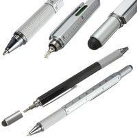Wholesale Function Rulers - Modern Design Overvalue Handy Tech Tool Ballpoint Pen Screwdriver Ruler Spirit Level Multifunction Tool Fit For Mens Gift