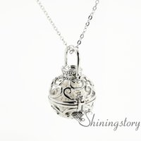 Wholesale Aroma Pendant Necklace Wholesale - essential openwork oil jewelry aromatherapy jewelry wholesale wholesale lockets aroma jewelry metal volcanic stone diffuser necklace