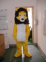 traje de león amarillo al por mayor-Al por mayor-Profesional de la mascota del león amarillo Disfraz Disfraz Adulto Tamaño EPE Traje de la mascota del traje