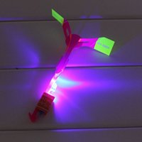 online shopping Led Amazing Helicopter - Novelty Toys Amazing LED Flying Arrow Helicopter for Sports Funny Slingshot birthday party supplies Kids' Gift mushroom fairy Flying Arrows