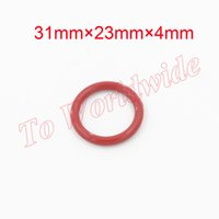 Wholesale Wholesale Washer Machine Parts - Machine Part Silicone O Ring Seal Washers 31mm x 23mm x 4mm Red