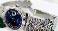 Wholesale Watch Roman Gold - Luxury WATCH Fashion Watch Gold & Steel Blue Roman Dial 116234 Rehaut WATCH CHEST wristwatch
