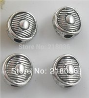 Wholesale Bracelet Charms Spacers - 500Pcs Antiques Silver Exquisite Small Round Dot Spacers Beads Charms For Bracelet Necklace DIY Making Jewelry M1696