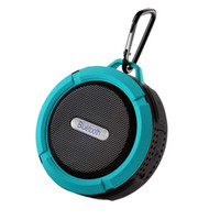 Wholesale Bluetooth Wireless Speakers Waterproof C6 Speaker Strong Driver Long Battery Life With Mic Removable Suction Cup Better Charge Bluedio