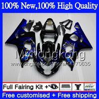 Wholesale K4 Fairings - Body Motorcycle For SUZUKI GSXR 750 GSX R600 K4 GSXR 600 04 05 24MY12 GSX-R750 GSX-R600 Blue flames GSXR750 04 05 GSXR600 2004 2005 Fairing