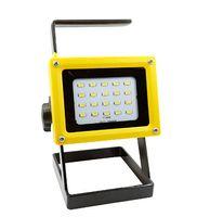 reflector recargable ip65 al por mayor-portátil 10 w llevó la luz de inundación No 18650 batería recargable reflector reflector lámpara impermeable al aire libre ip65 iluminación