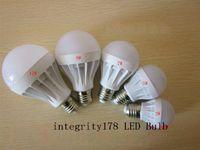 3x1w strom geführt großhandel-3W 5W 7W 9W 12W 15W LED Birnen LED Kugel Licht energiesparende Ac220V E27 Dimmbare LED-Lampe Factory Direct 3 Jahre Garantie 5730 LED-Leuchten