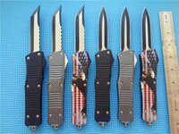 "Wholesale Dual Action - Sea-blooms Custom Combat Hellhound Tanto Knife dual action (3.8"" two-tone) A07 A161 A162 EDC tactical knives with nylon sheath"