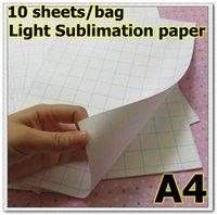 Wholesale Wholesale Sublimation Bags - Wholesale-10 sheets bag light sublimation Paper Heat Transfer paper T-shirt Paper clothing paper