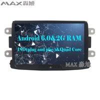 Wholesale Dvd Din Renault - 2G+16GAndroid 6.0 Car DVD Player For Renault Duster Logan Sandero  Dacia Duster Dokker Autoradio with BT WIFI SWC