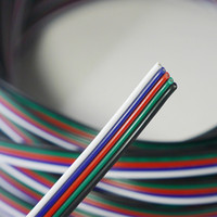Wholesale flexible cord - 100M 5pin wire flexible rgbw cable extension wire cord connector For RGBW 5050 led strips light
