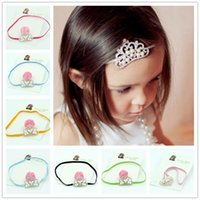 Wholesale Diamante Hair Bow - 33pcs Diamante Rhinestone Crystal Flower Crown Headband baby girls flower hair accessories crown hair flower headbands