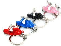 Wholesale Metal Prices Zinc - Free Shipping Promotion price! Scooter Keychain Funny 3D Motorcycle Motor Bike Key Chain Ring Keyring,700pcs lot